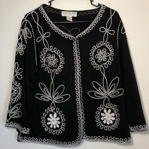Lauren Michelle women's blouse black size XL